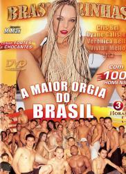 capa do filme a maior orgia do brasil 220 min Cris Bel   Atriz Pornô