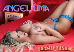 Angel Lima na cama